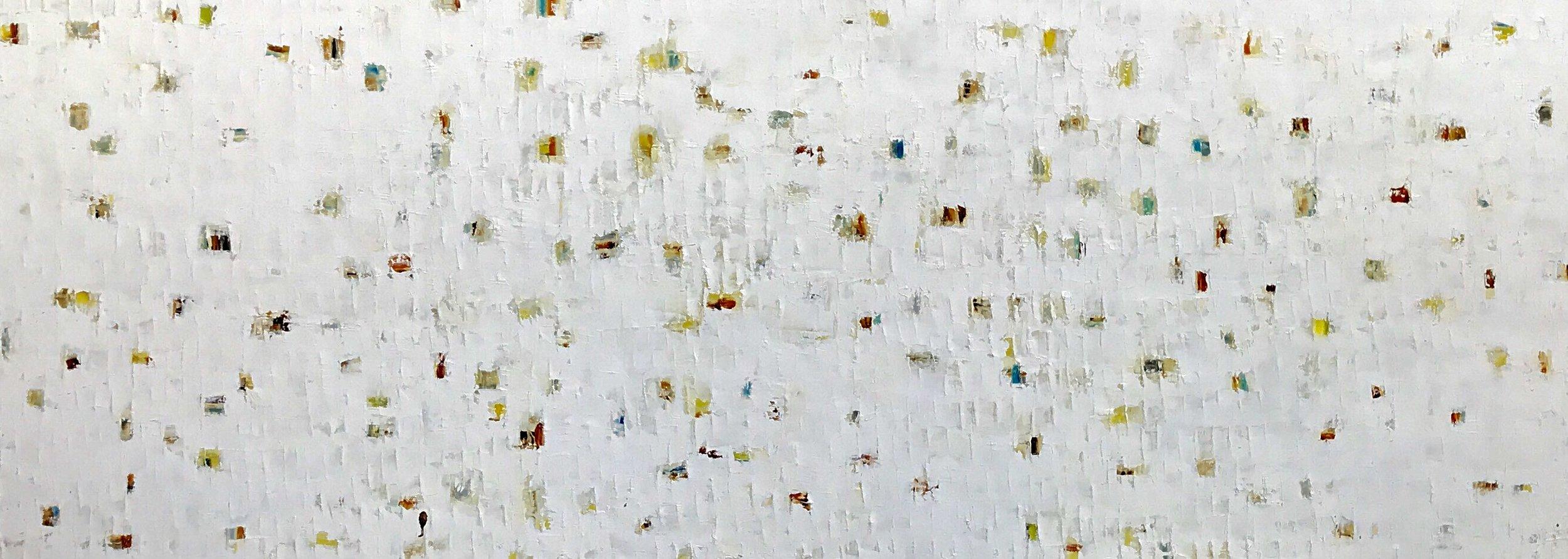 """Winter in Oslo"" 36""x 96""x 2.5"", oil on canvas"