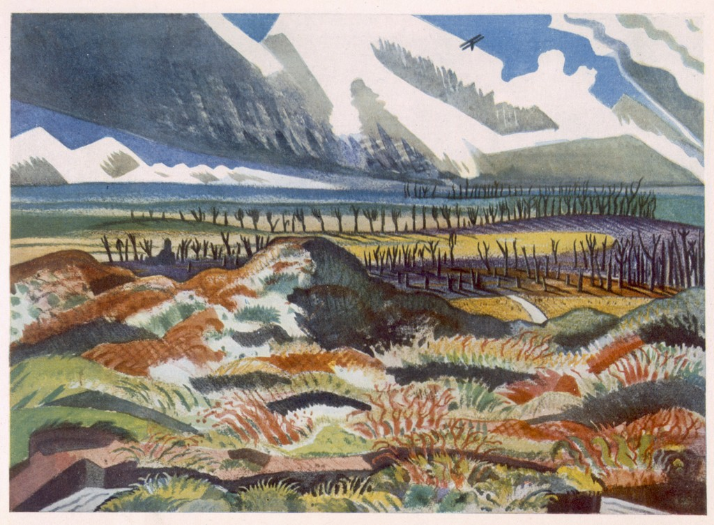 Paul Nash,  Ruined Country  (1917).