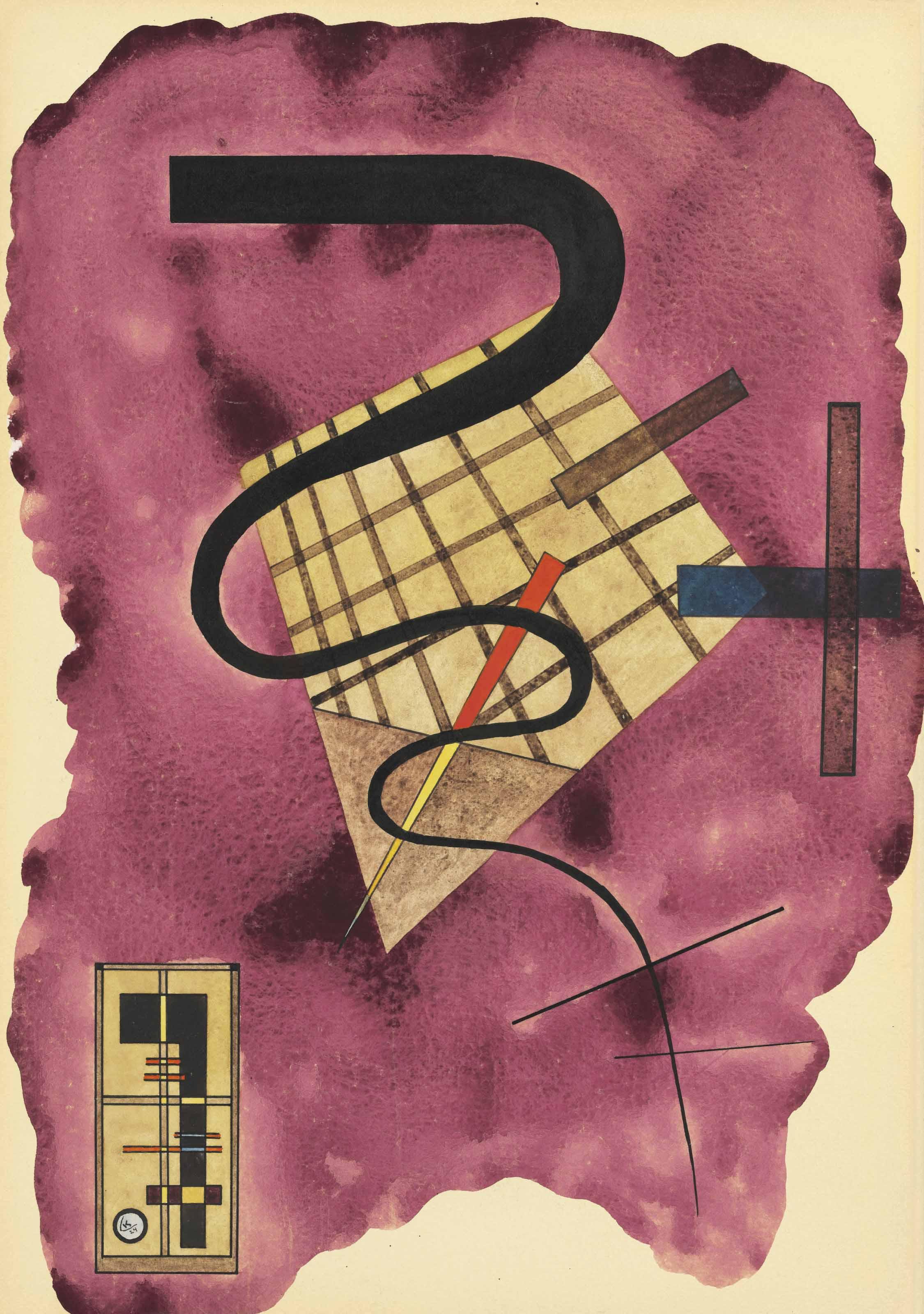Wassily Kandinsky,  Schwebende Linie  (1924).
