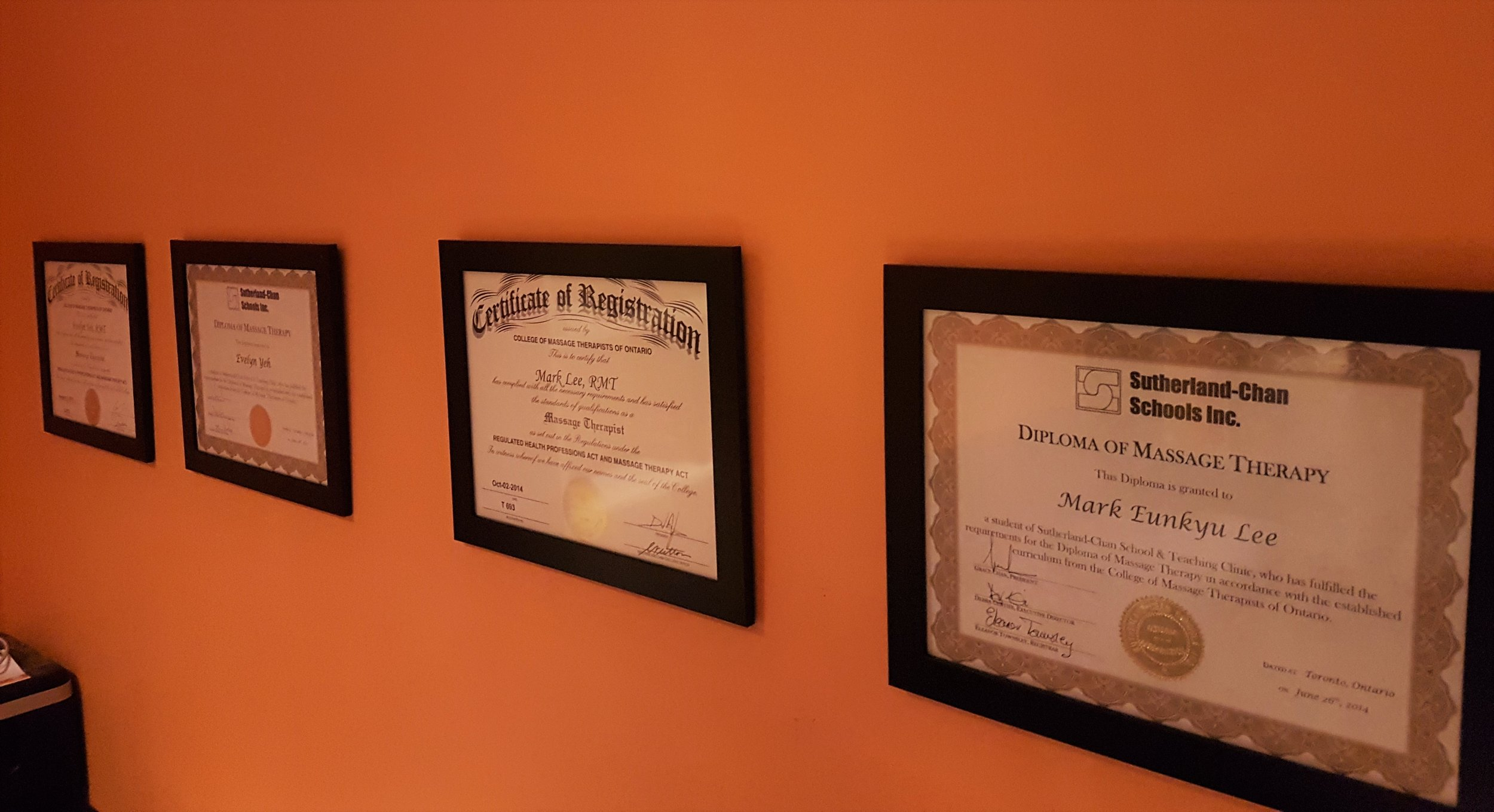 Massage Therapist's Diplomas