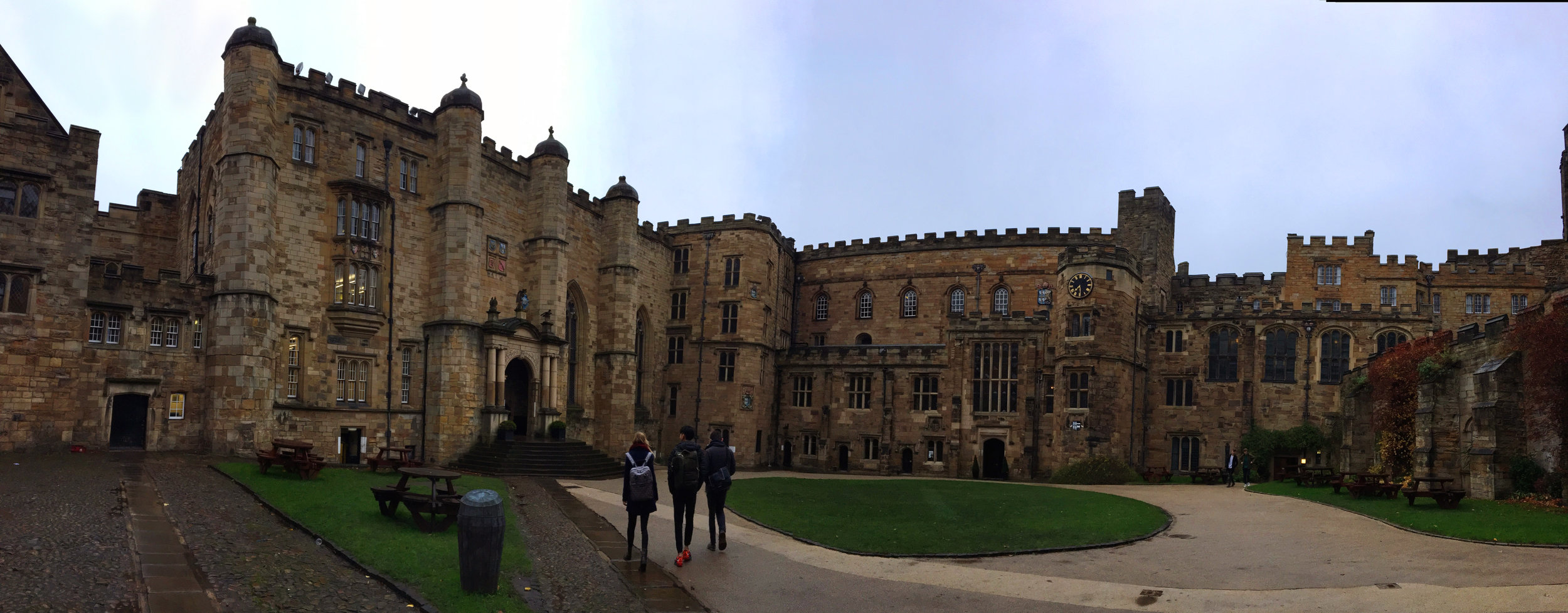 Durham Castle & some university students