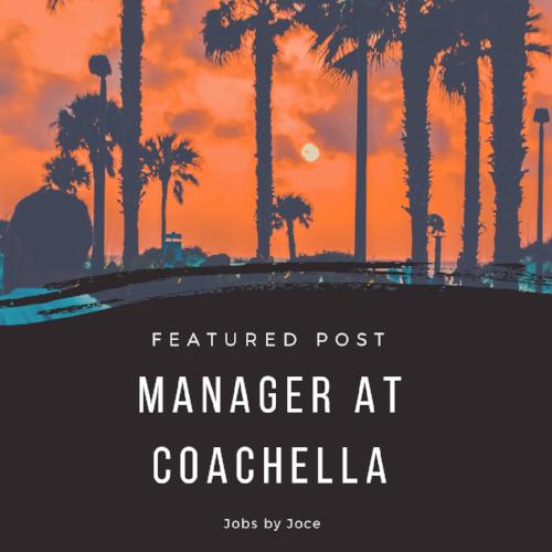 What it's like to work Coachella 2016