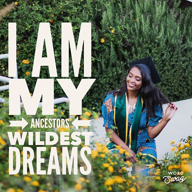 After a long week of celebration + reflection I am reminded that I did not get here alone. My ancestors were held captive in this country, hailing from Benin/Togo and were forcefully taken to South Carolina. My ancestry is full of highs, lows, sorrow and joy. Today I soak in the truth - I am my ancestors wildest dreams. Stay strong y'all. 🙏🏾✊🏾🎓⭐️ . . . . #blogger #jobsbyjoce #diaspora #ancestry #gradschool #cpp #mastersdegree
