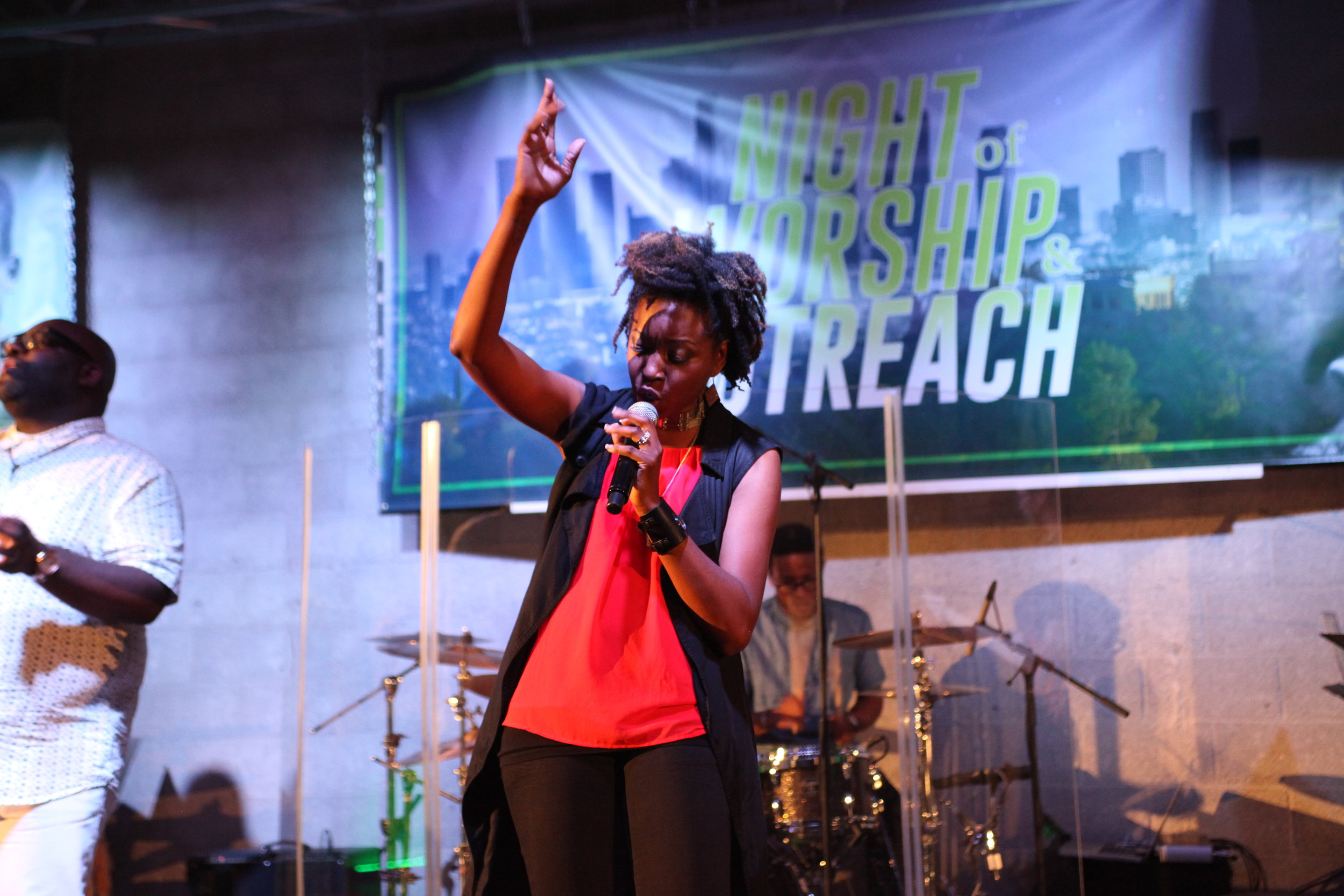 night of worship, reach up reach out