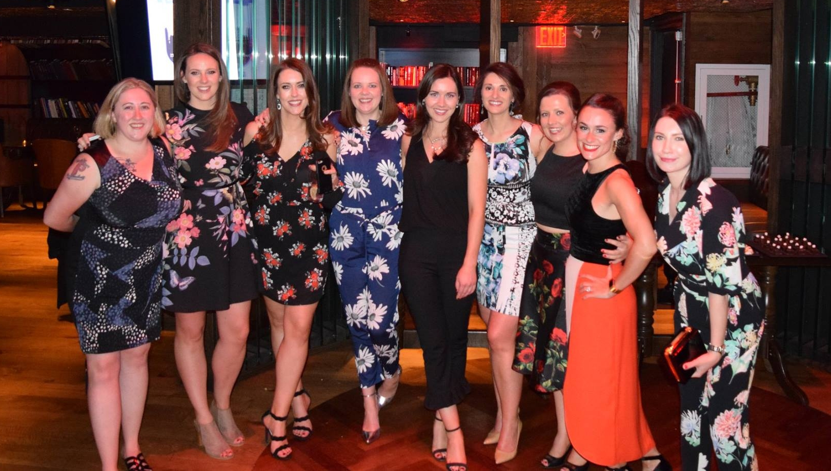 From left to right: C.J. Leonard, Aisling Daly, Niamh Tierney, Emily Mullan, Laura Brennan, Caroline McQuade, Orla Harty, Jane McCooey and Sarah Flavin