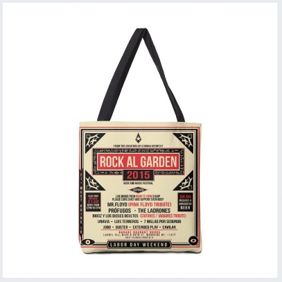 Commemorative Vinyl Tote Bag , Rock Al Garden 15 ( 3 sizes ) starting at $18  BUY