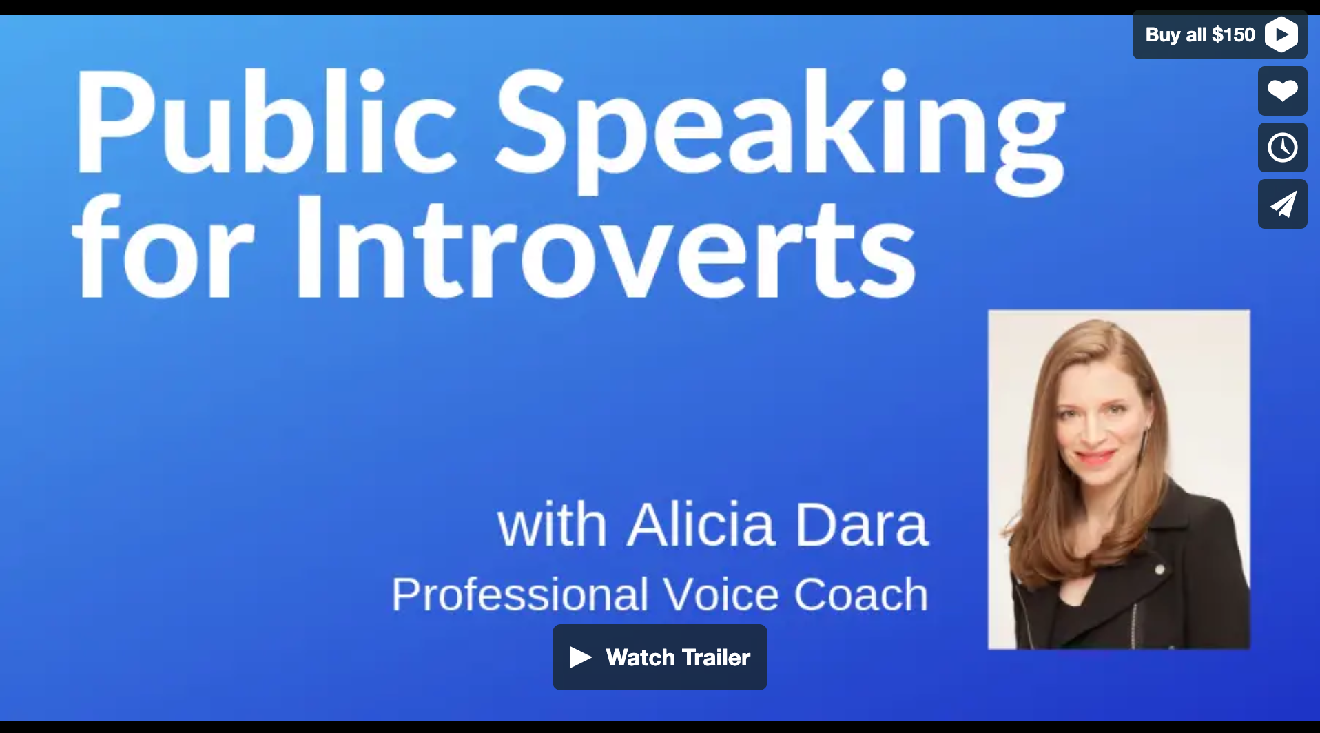 Public Speaking for Introverts is Here! - Introverts need special skills to overcome physical, mental, and emotional issues that can arise with public speaking and presentations. Alicia Dara has helped thousands of people find their voice, speak up, and get heard. In 45 minutes you'll learn powerful public speaking skills, a practice routine for your voice going forward, and valuable strategies that can help over come the intense mental, physical, and emotional symptoms of nervousness that introverts experience like shaking, breathlessness, and