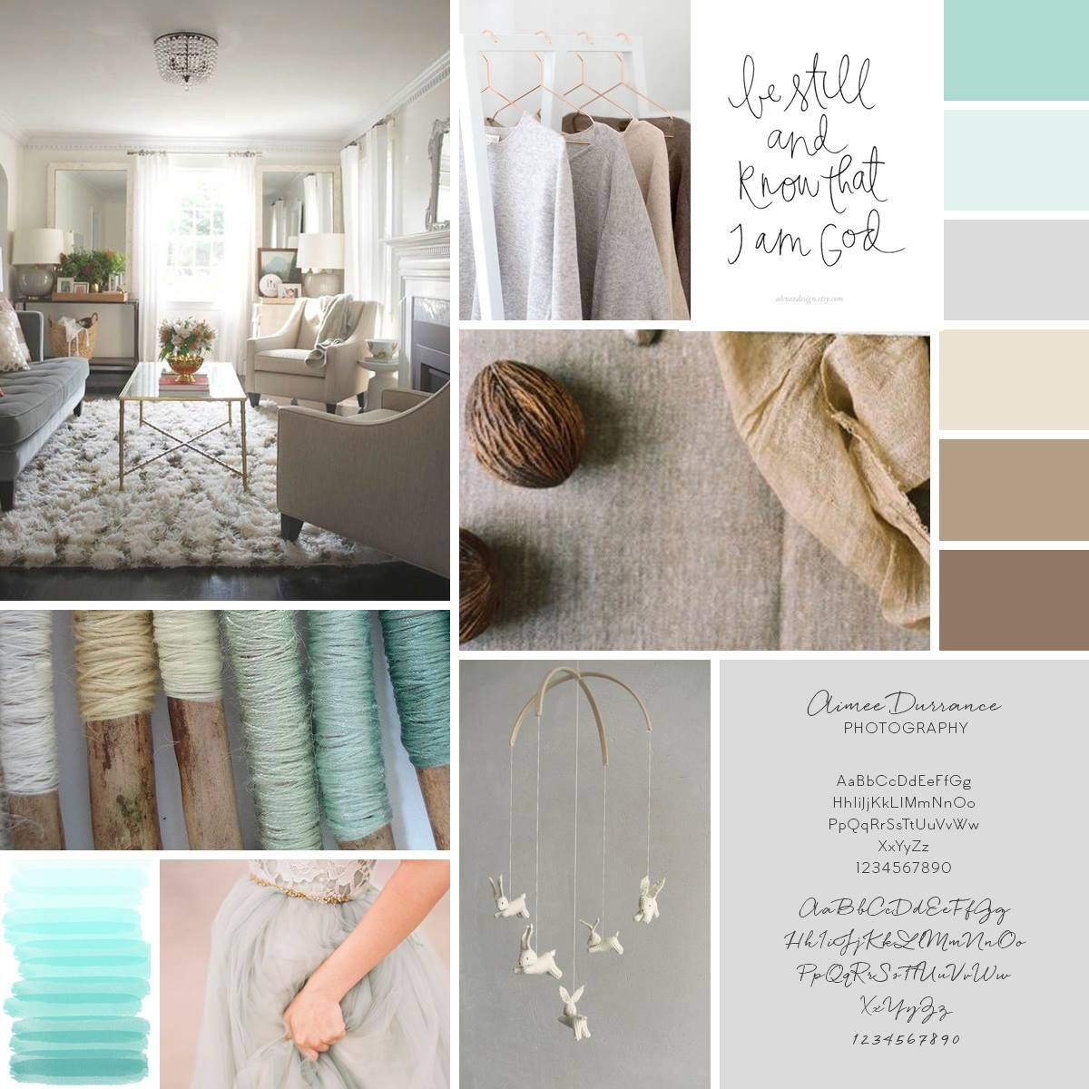 Aimee Durrance Photography lifestyle branding board for maternity, birth, fresh 48, newborn, and family photography in Leesburg, VA Northern Virginia