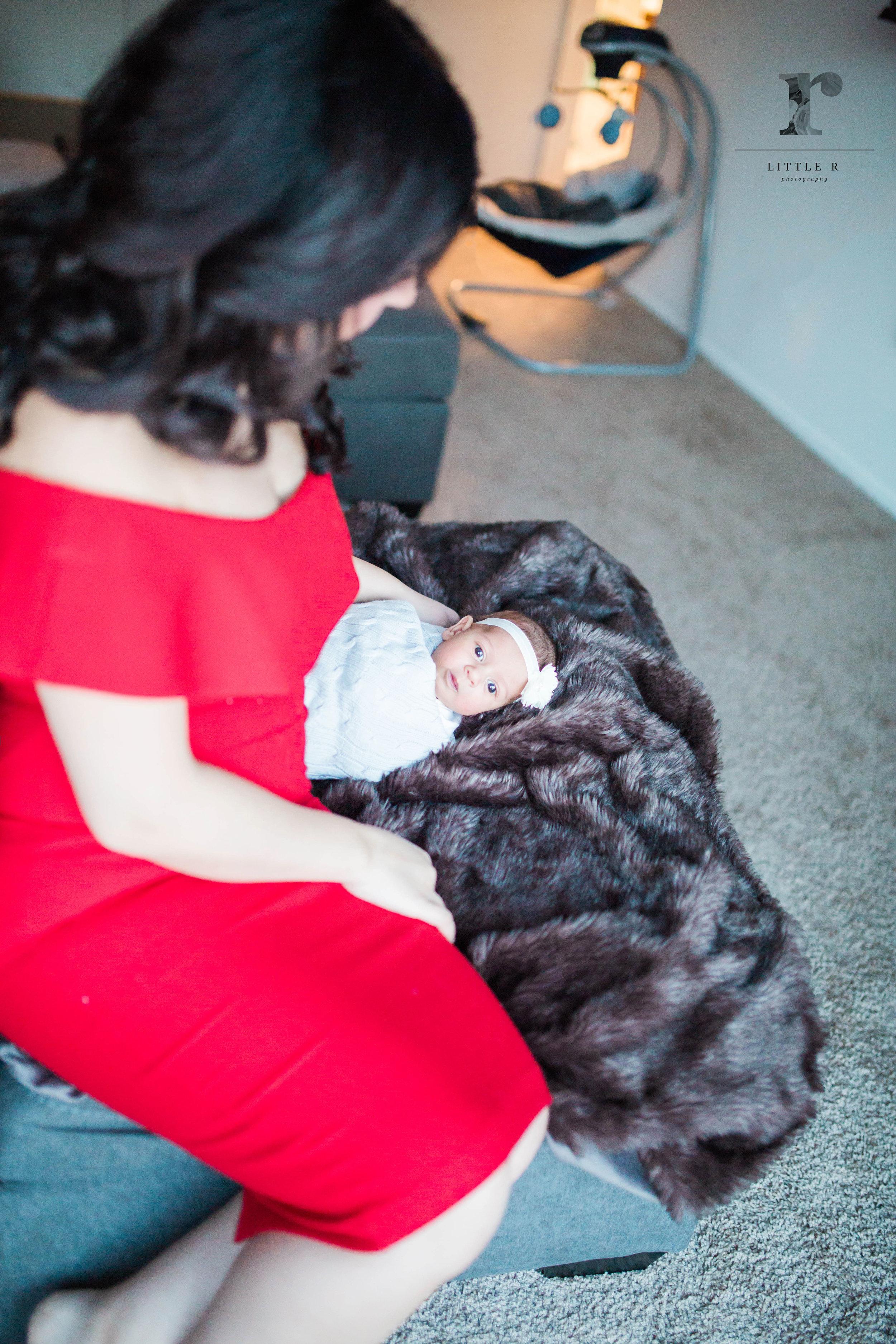 Newborn awake baby