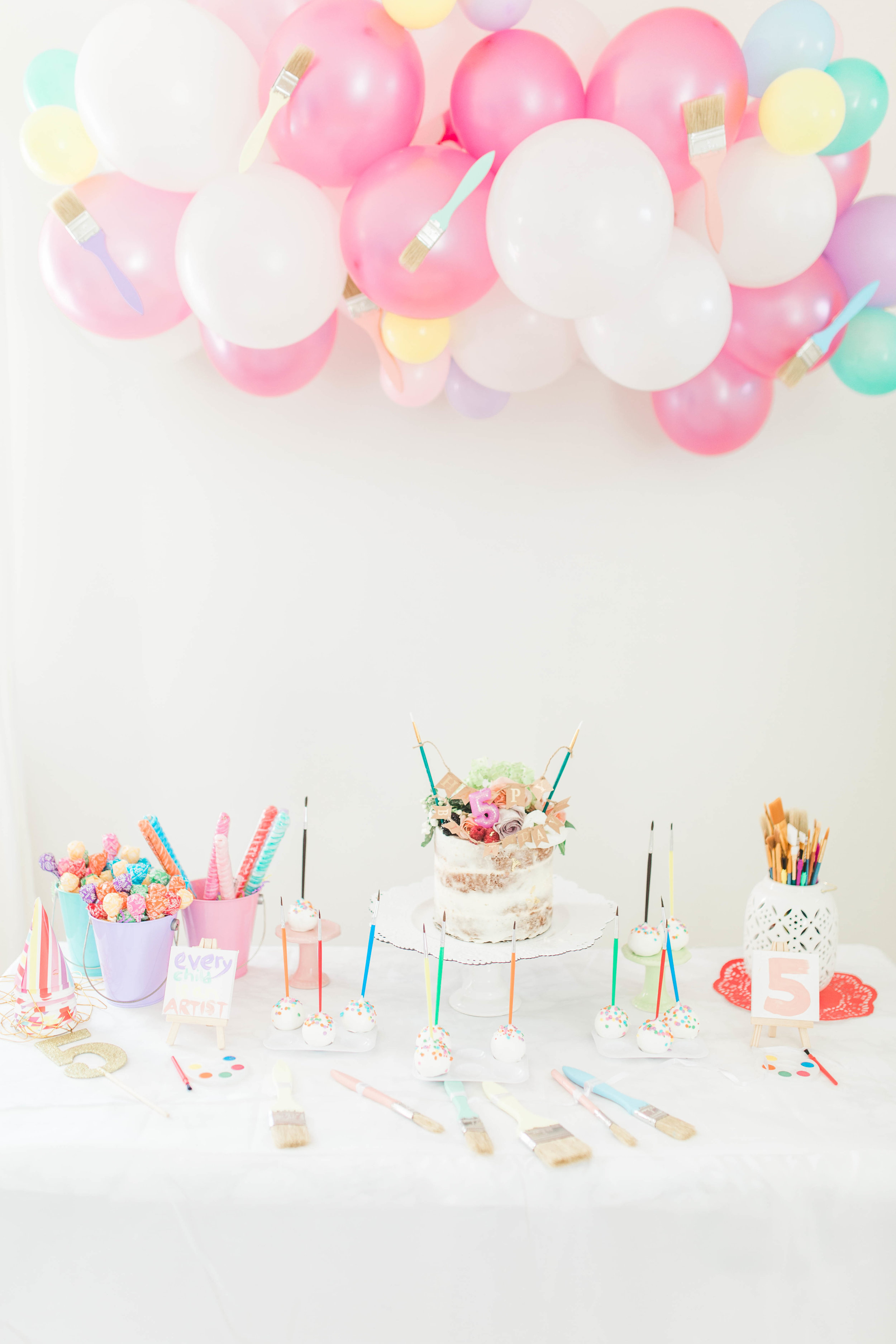 Little R Photography painting birthday table