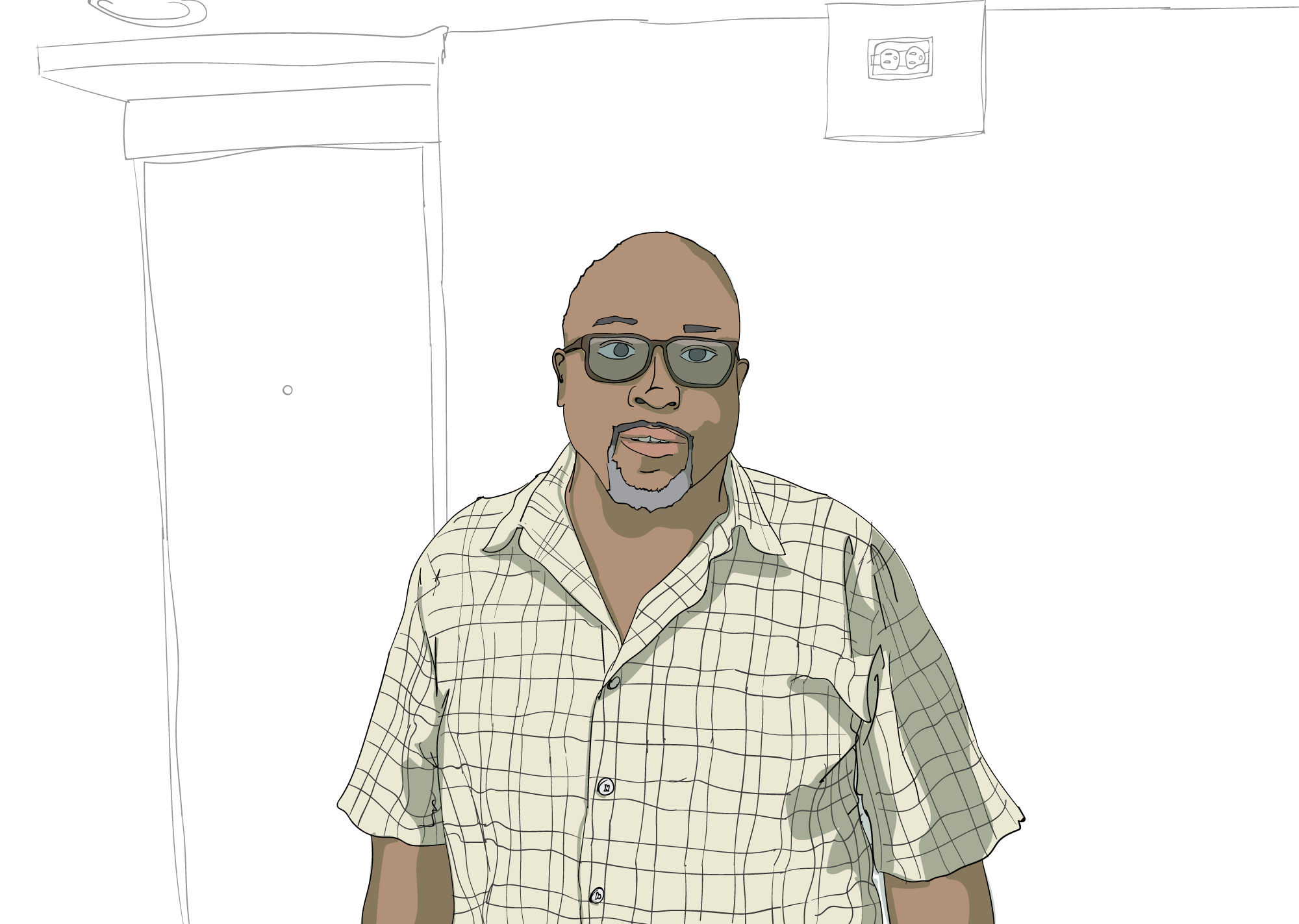 Darryl Townson, illustration by Daniel Rowell/Chicagoist