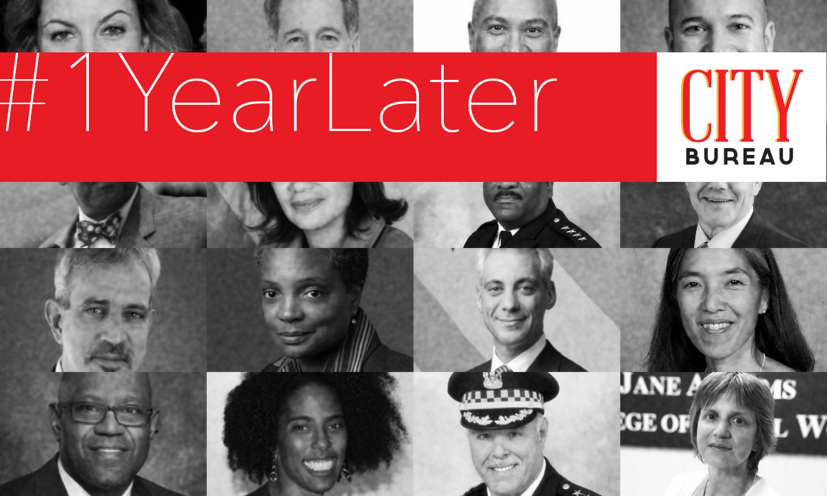 #1YearLater - City Bureauand lawyers with the Police Accountability Collaborativehave updated City Bureau's Task Force Tracker to include a progress report — 1 year to the day after the Police Accountability Task Force released its recommendations on police reform in Chicago.