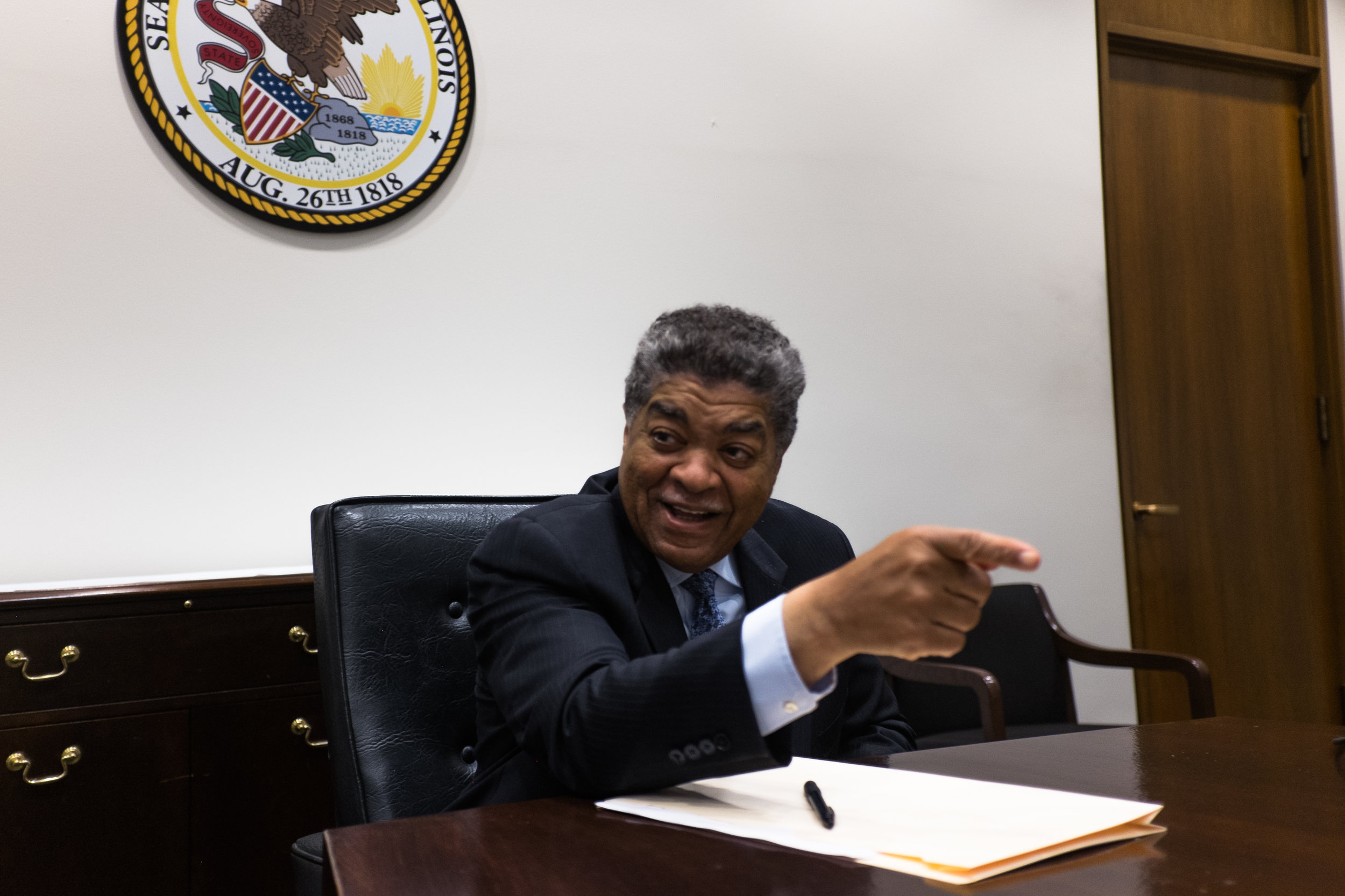 "Chief Judge of the Circuit Court of Cook County, Timothy Evans, explains his plans to bring Restorative Justice to other South Side communities. Accredited as one of the pioneers of the Restorative Justice Community Court, Evans explains the need for an alternative court, ""I have to admit that the system that the larger community has embraced in the past has not worked,"" he said. ""We've tired arresting these young people, prosecuting them, they have been convicted, incarcerated, but the recidivism rate does not go down. We need something new."" (Sebastian Hidalgo)"
