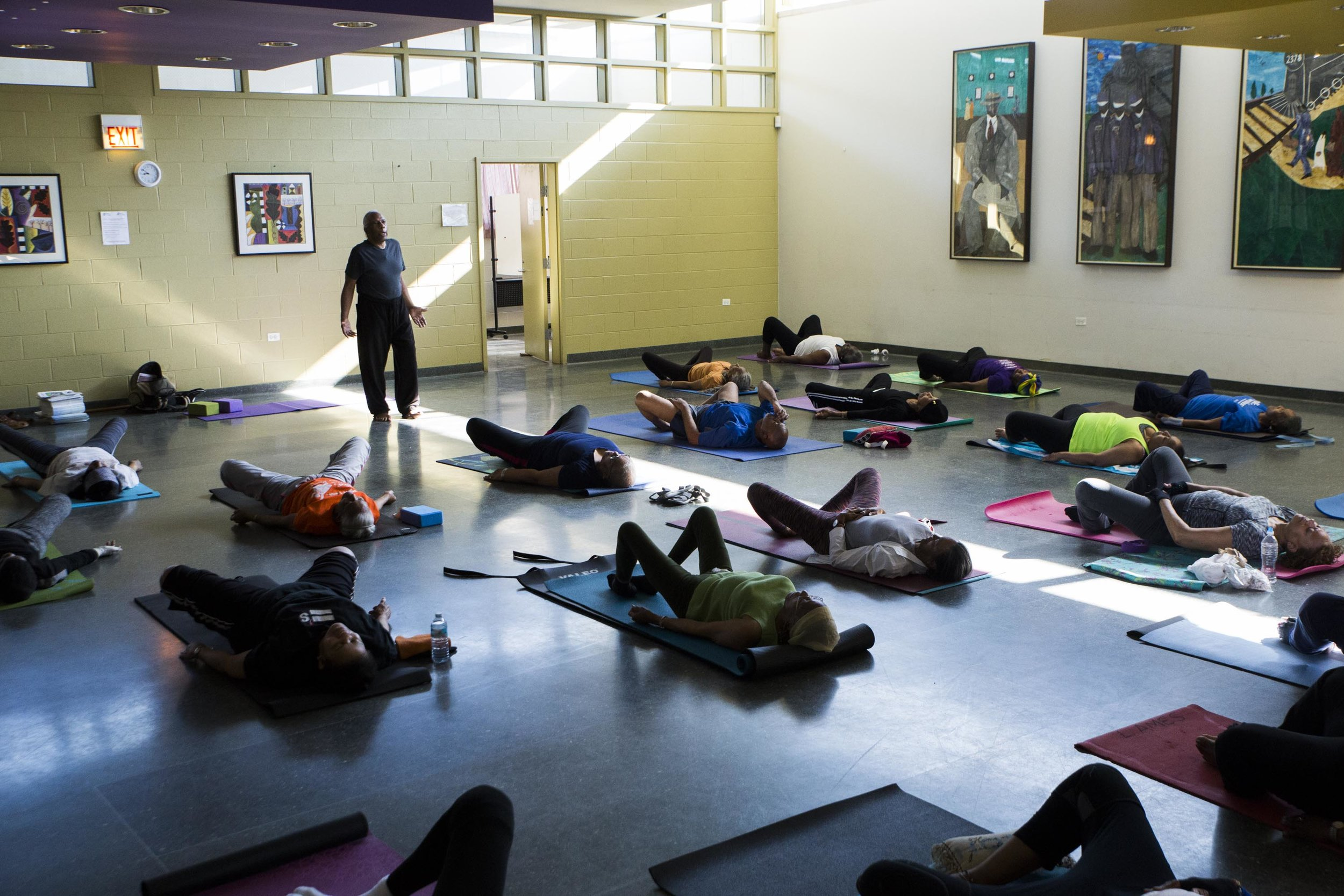 Yoga teacher Tony Stevens, who lives in Calumet Heights, used to serve as a caregiver for several people in his family who were sick. Now, he is committed to living a healthy lifestyle.