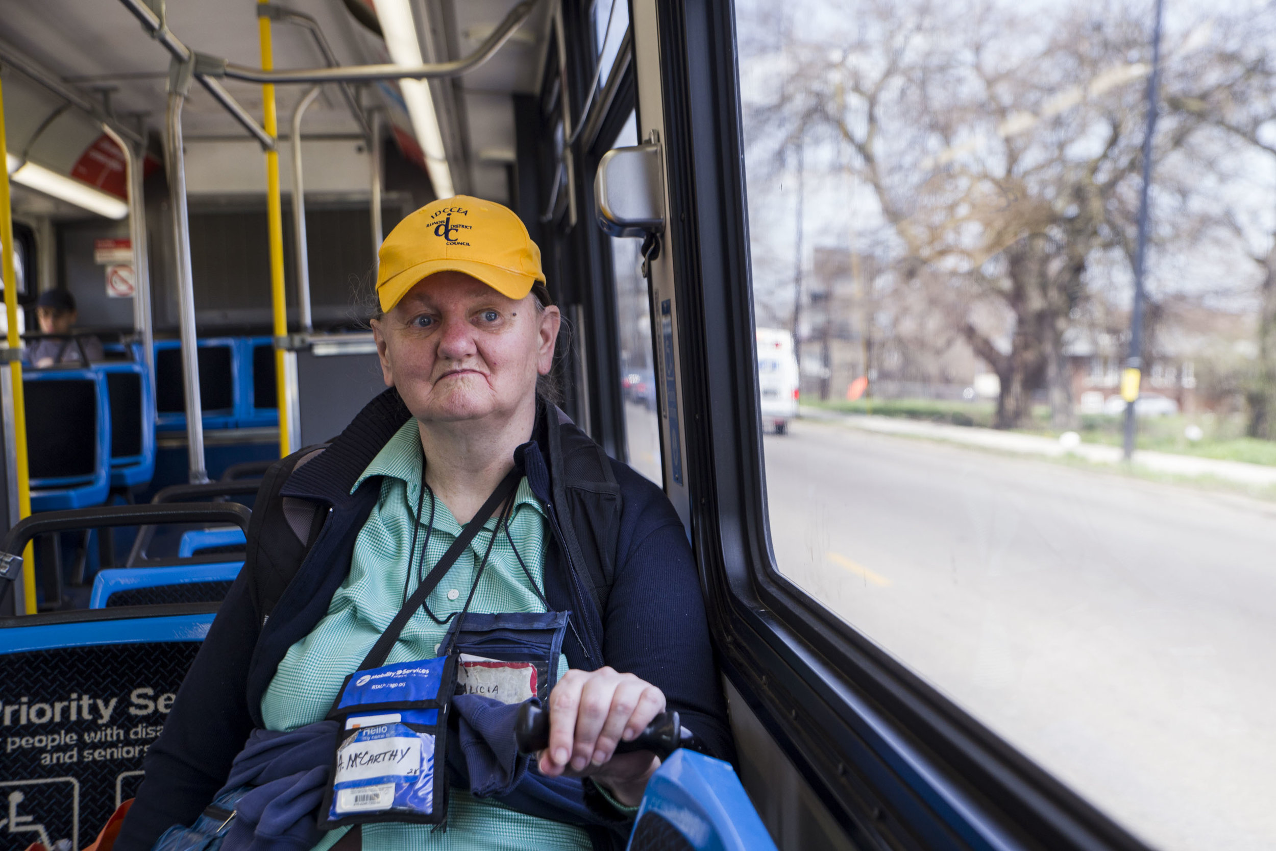 "To Alicia McCarthy, 64, commuting on the South Side is challenging as an older adult. I have at least three buses to catch to get to some very important places and it's quite a bit of walking in between bus stops because they don't make good connection all the time,"" said McCarthy. She almost got hit by cars several times, she said. ""We need to do something about these RTA officials downtown who don't never catch any buses…They're living in a vacuum by themselves."""