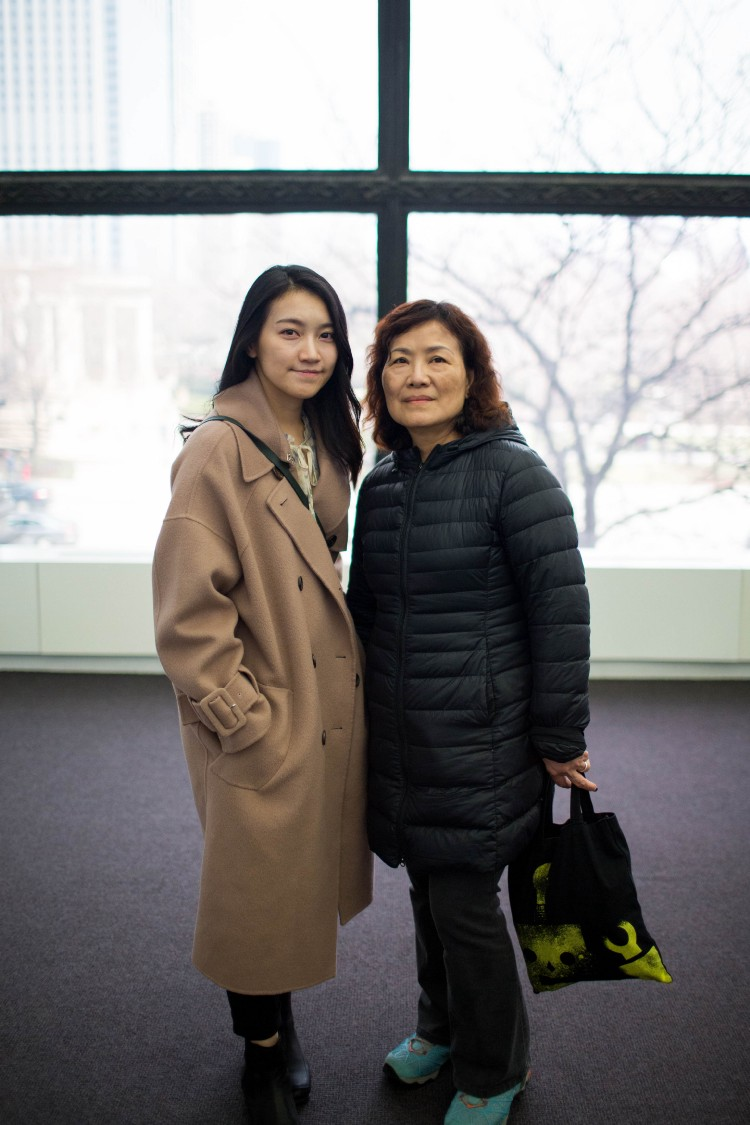 Angel Ang (left) with mother Ching Liu (Photo: Caroline Olsen)