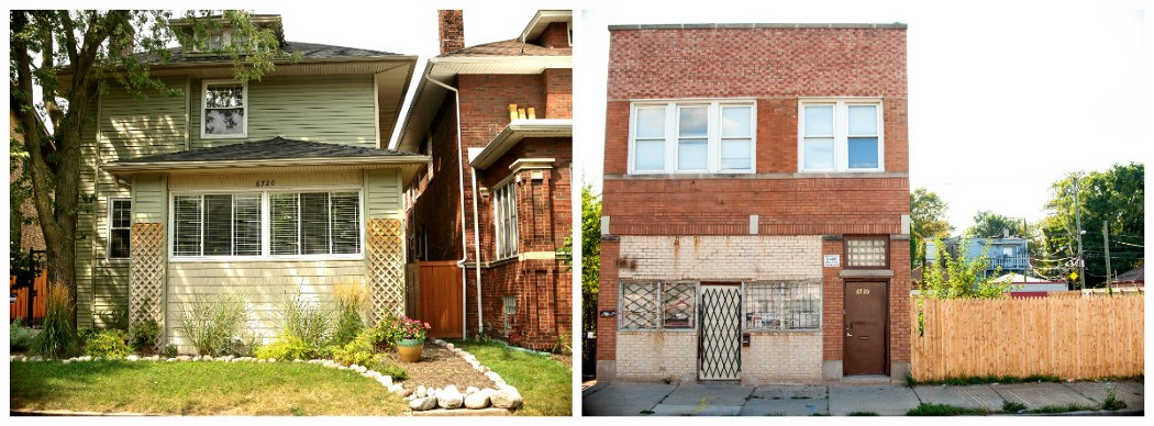(left) 6720 N. Ashland Ave. (right) 6720 S. Ashland Ave. (Photos: Tonika Johnson)