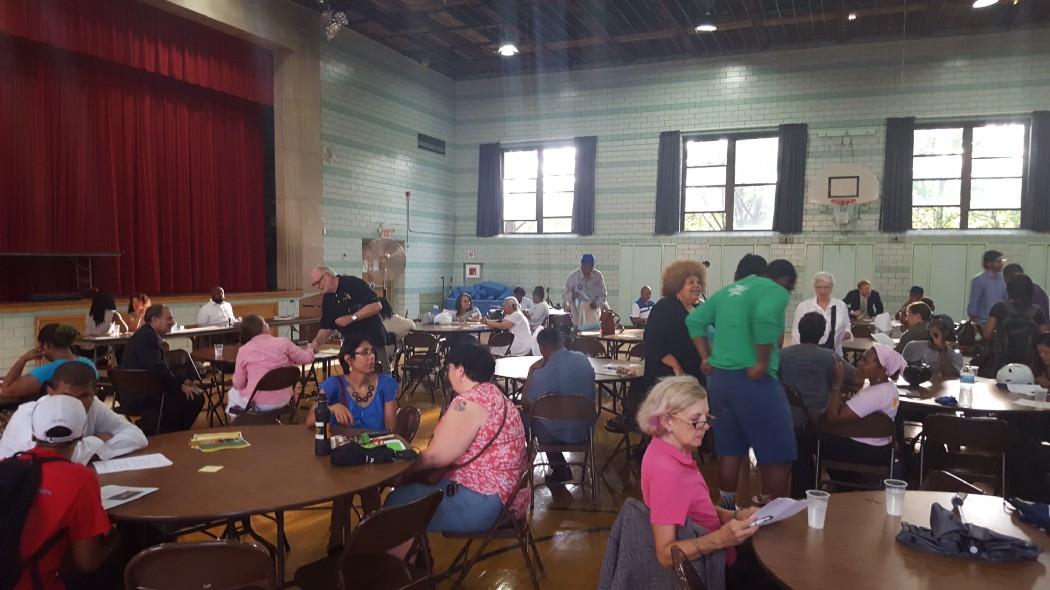 Obama CBA meeting at St. Philip Neri Elementary School (Photo: Charles Preston)