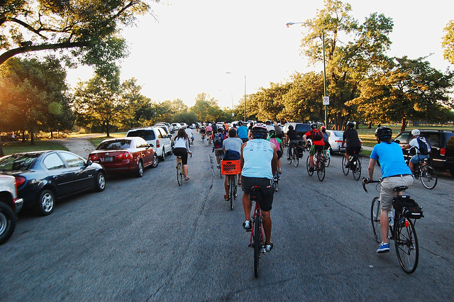 Cyclists in Marquette Park in 2010. (Photo: reallyboring/Flickr)