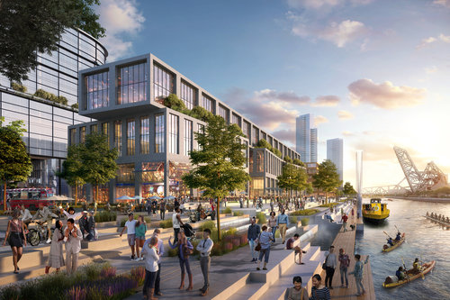 The 78, a megadevelopment south of downtown, received TIF money. (Rendering: The 78)