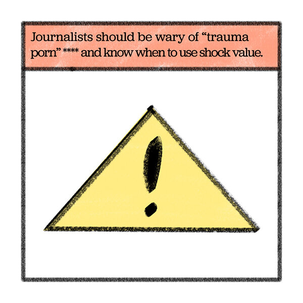 **** More on  shock value  and on  trauma porn