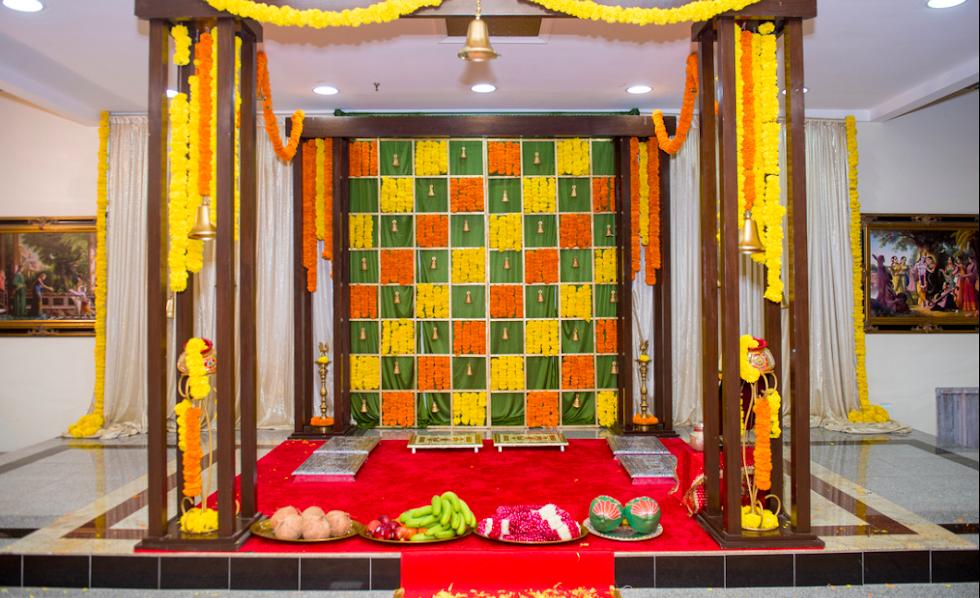 Decoration pellikoduku function Haldi Theme