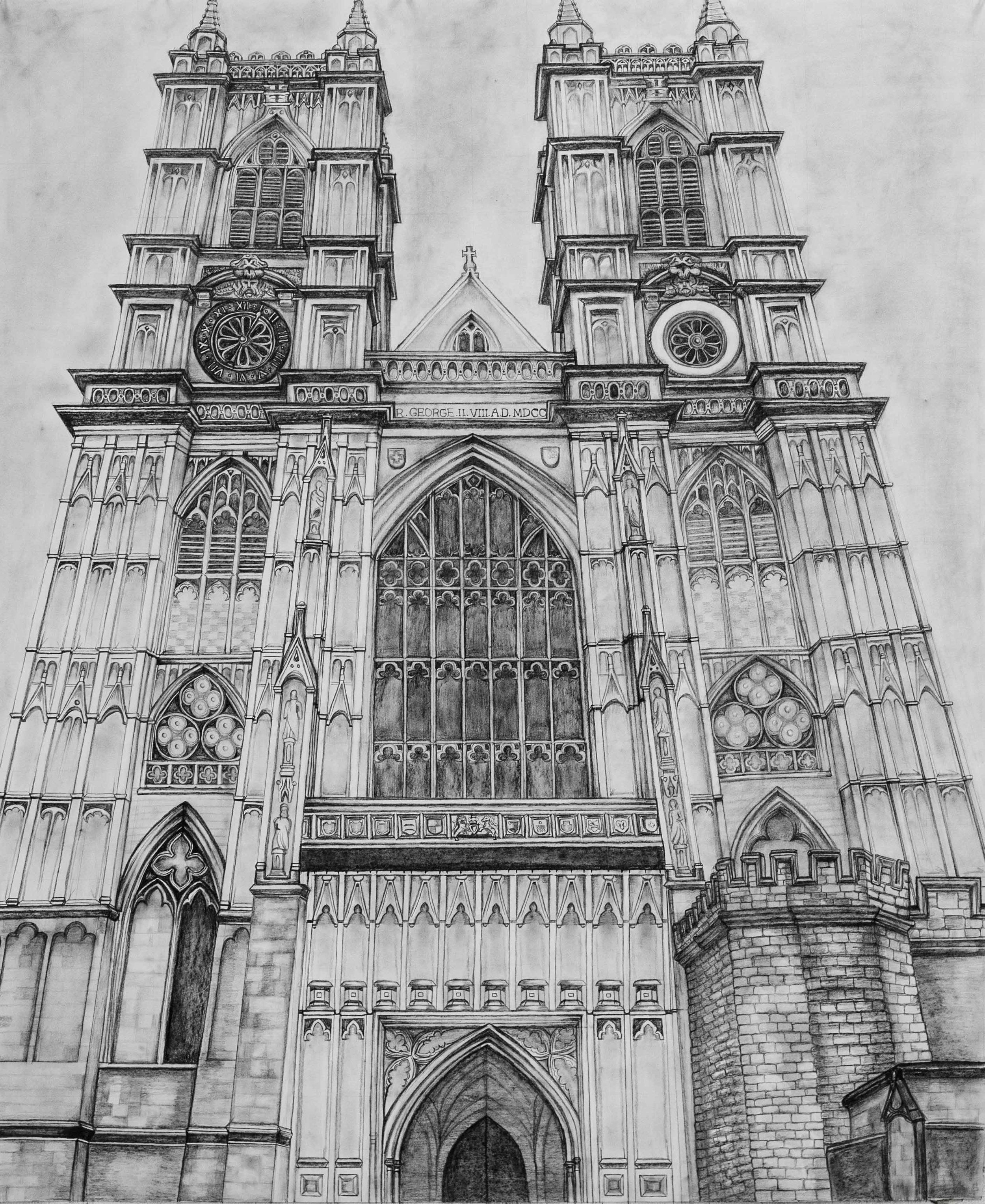 Westminster Abbey    -   Graphite - 32x38 - 2018