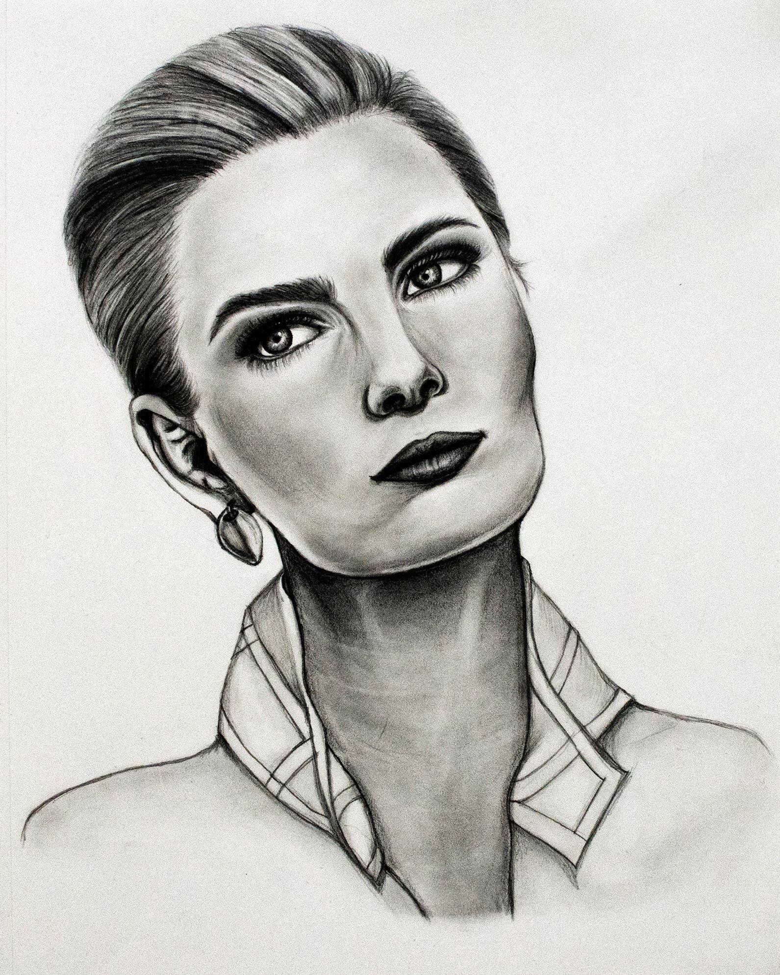 Paulina Porizkova    -       Graphite - 9x12 - 2017