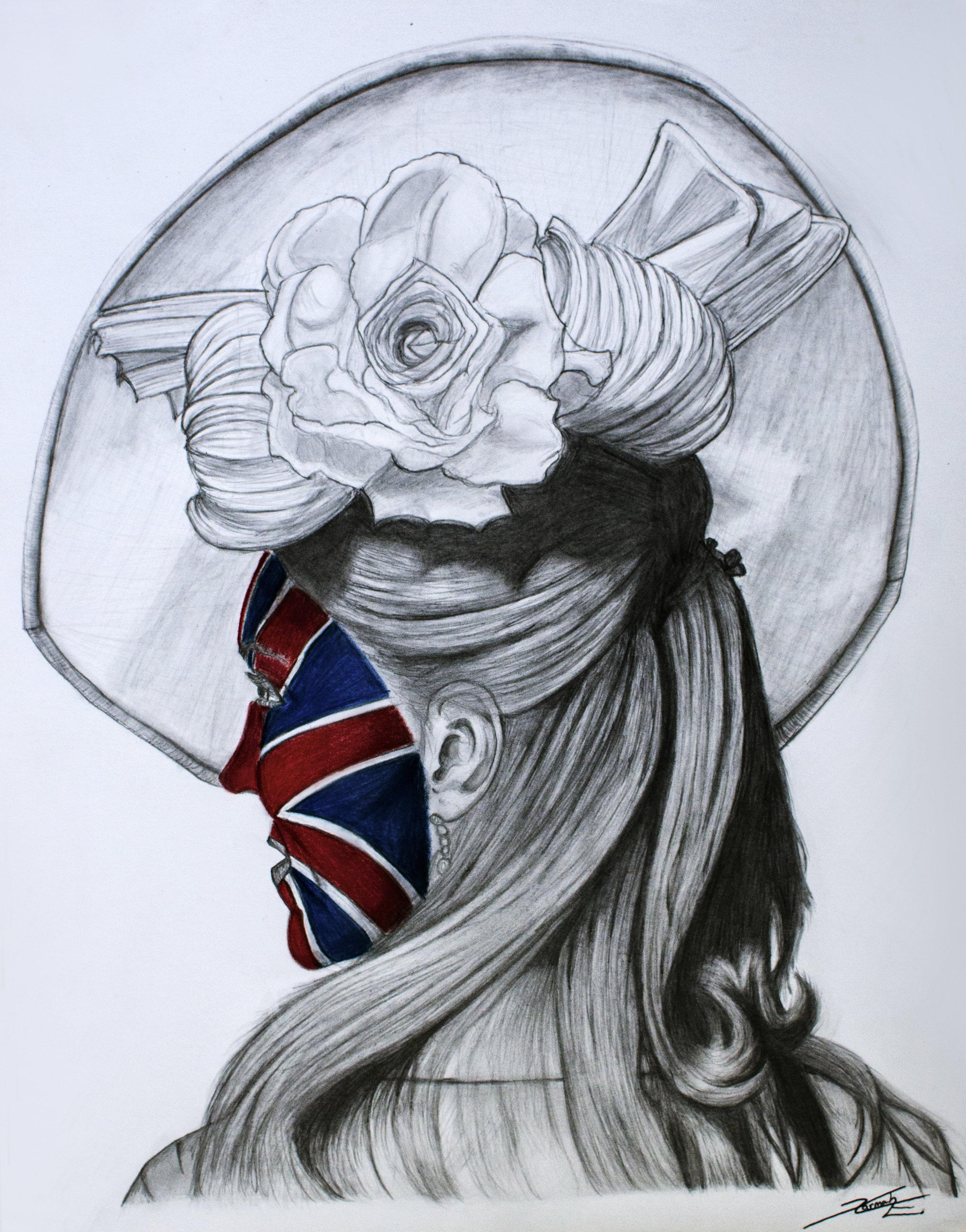 Face of Britain -    Graphite and Colored Pencil - 2015