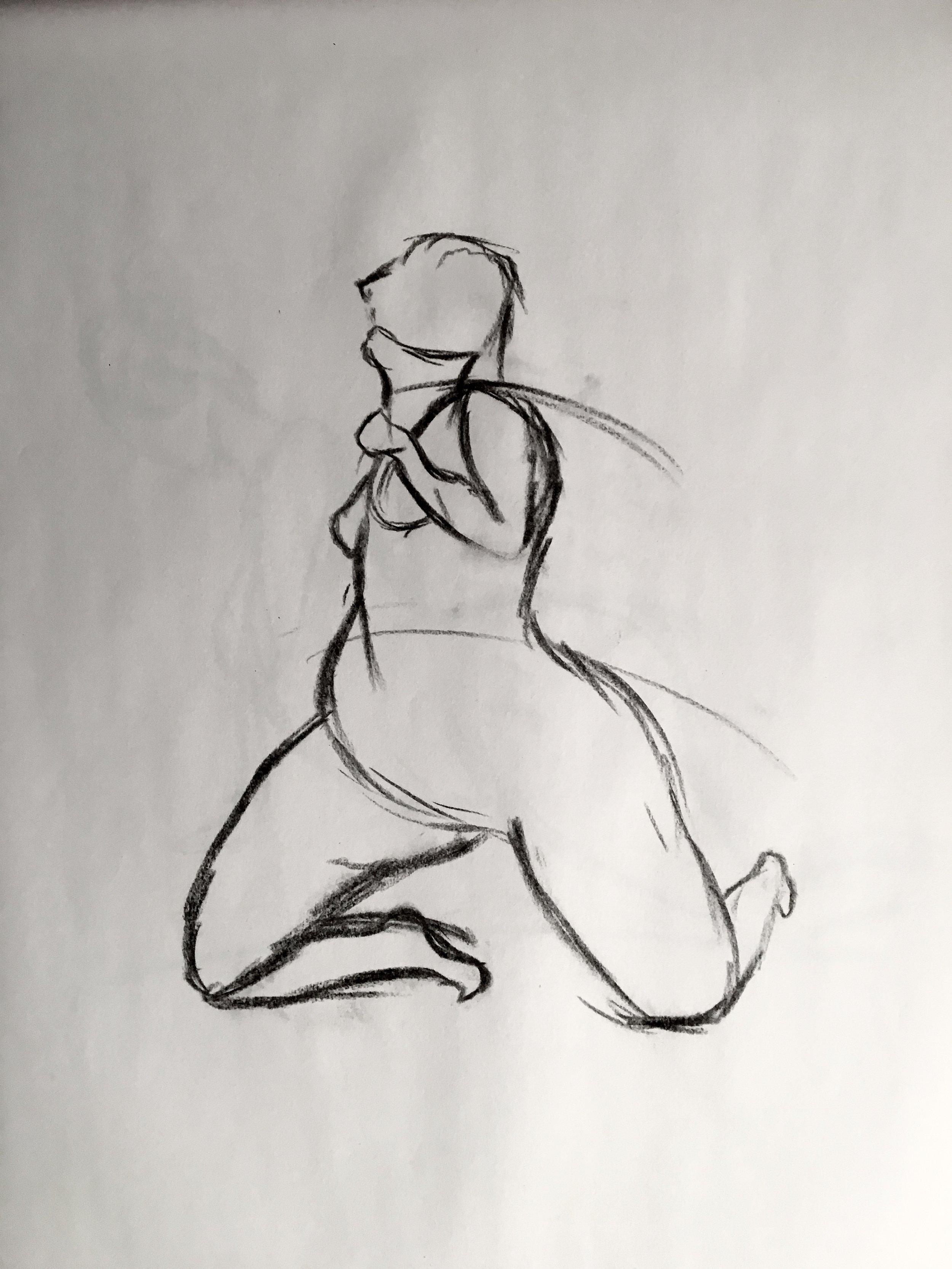 Woman    -     Charcoal - 18x24 - 2017