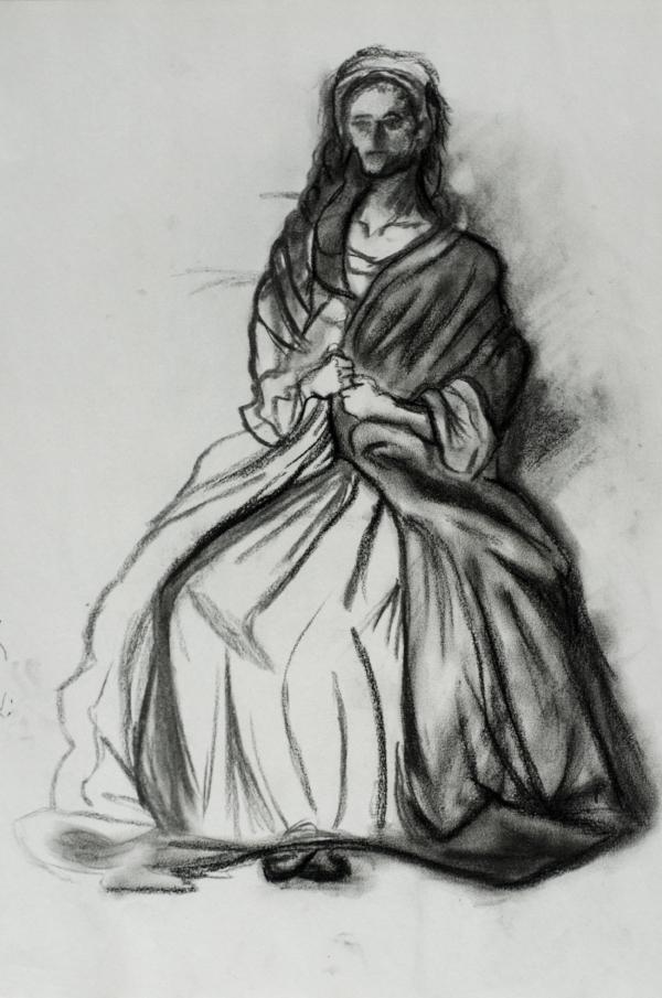 Renaissance Woman  -     Charcoal - 18x24 - 2018