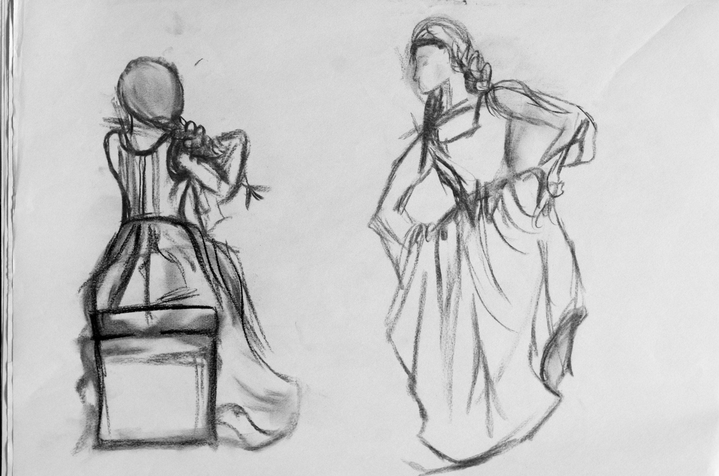 Renaissance Woman  -     Charcoal - 18x24 - 2017