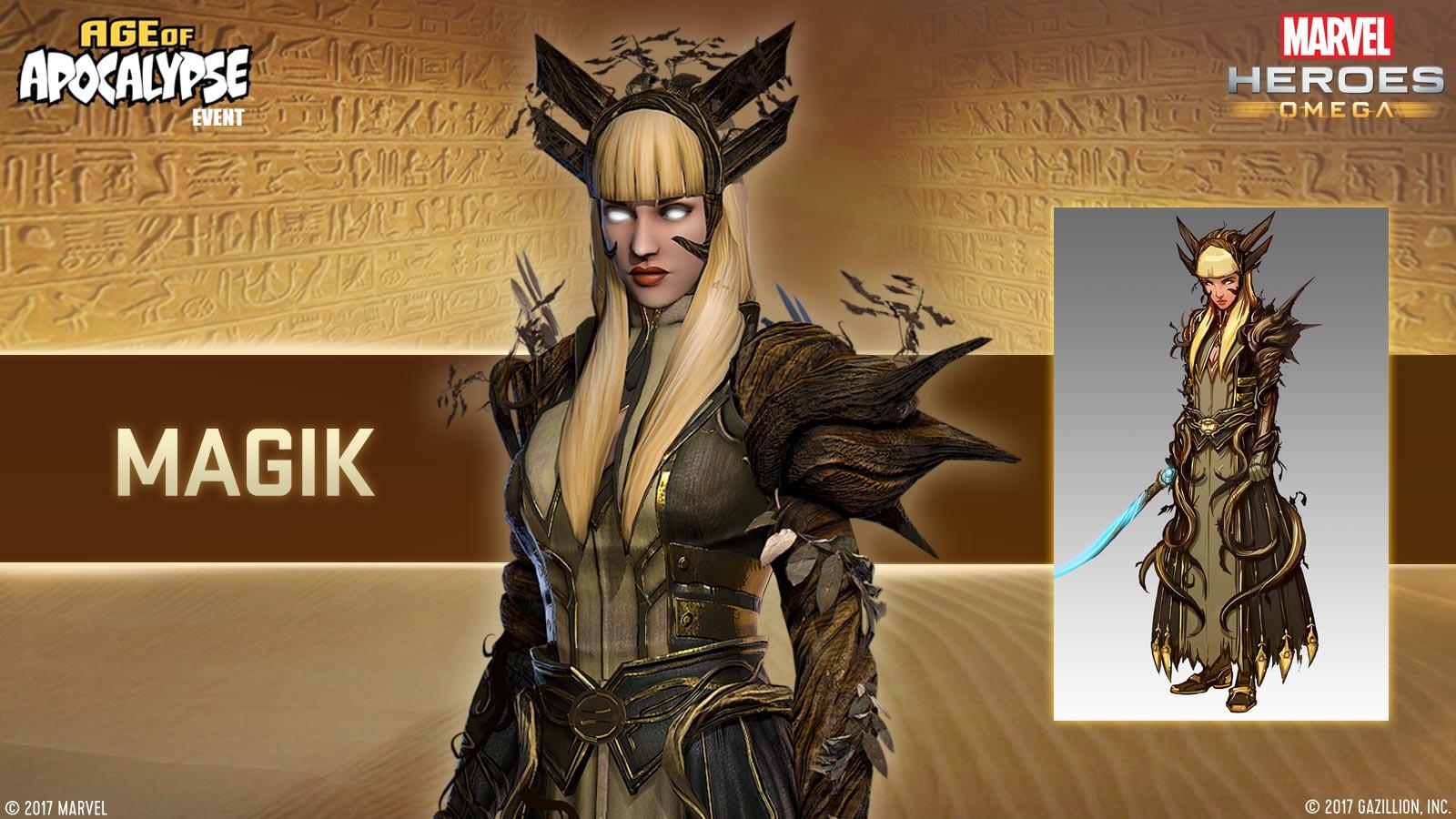 Official Magik Horsemen character press release graphic.