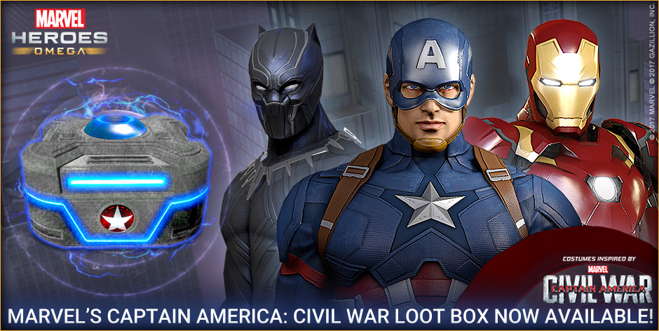 Digital Graphic for Exclusive Loot Box with character costumes used on all social media and gaming platforms.