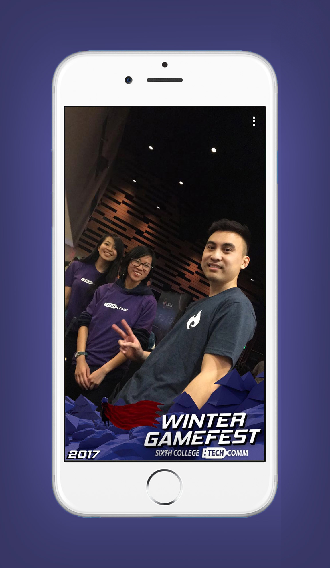 Official Winter GameFest 2017 SnapChat Filter used by attendees during the event.