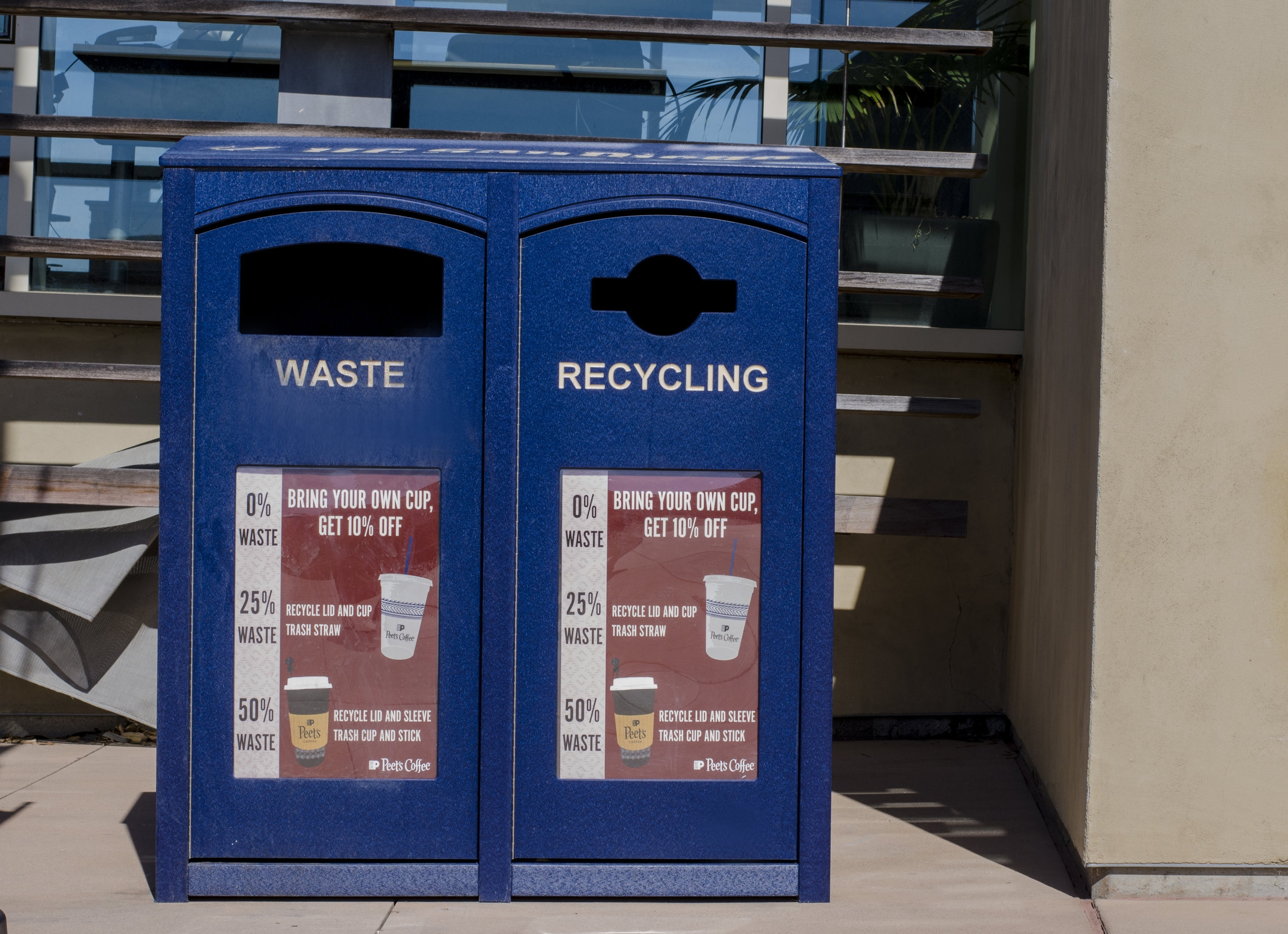 Sustainability Bins located across all athletic and recreational facilities on the UC San Diego Campus to reduce waste.