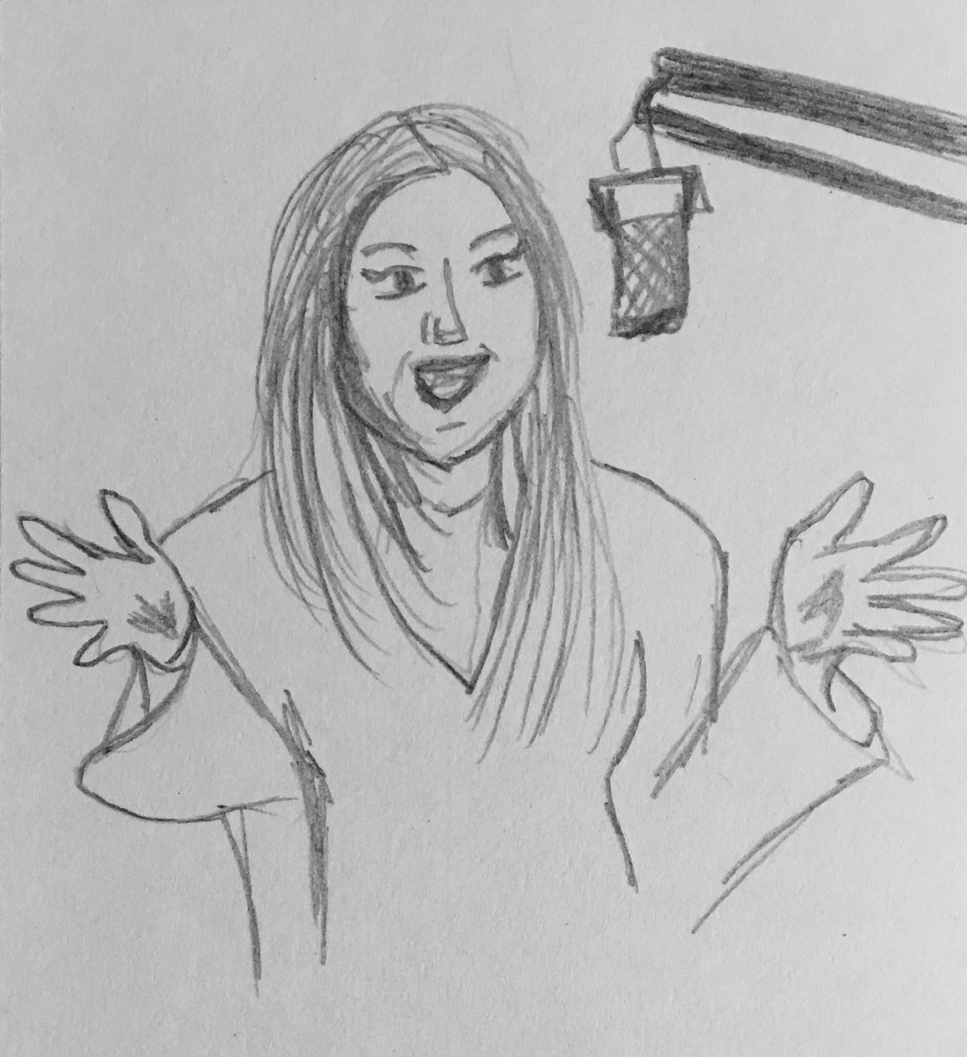 Initial sketch of Ashanti Hepzen