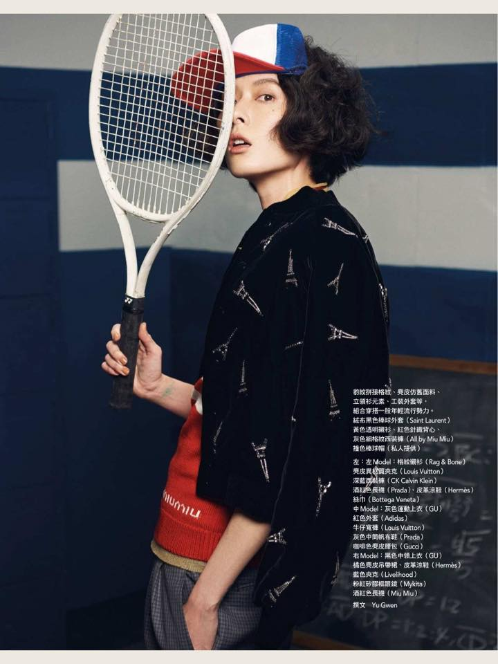 Old-school sporty Photo / Adam Chang Styling / Yu kwen Hair / Joshua Liao Model / Jiun Wang , Frances Liu (fashion), Amber (new face)