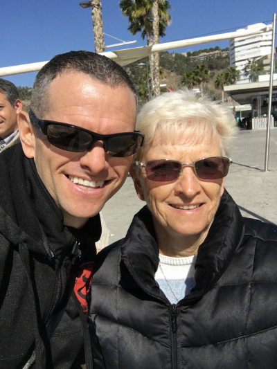 My amazing mom Beverley and I in Marbella, Spain while I was undergoing my treatment.