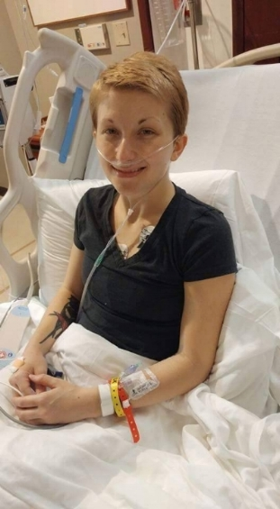 Final hospital stay before leaving for treatment