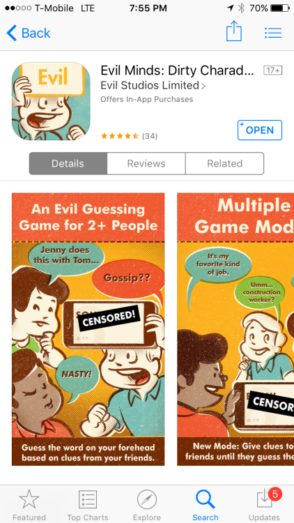 App store listing