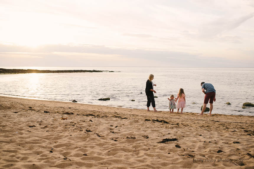 mornington peninsula family photographer sunset