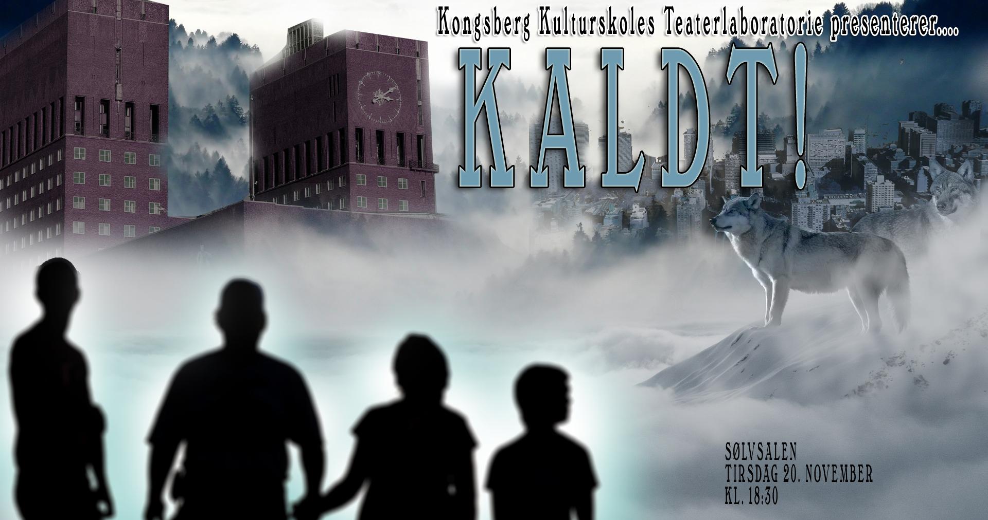 """Kongsberg Teaterlaboratorium har laget forestillingen """"KALDT!"""" so balanserer humor og dramatikk i et postapokalyptisk landskap."""