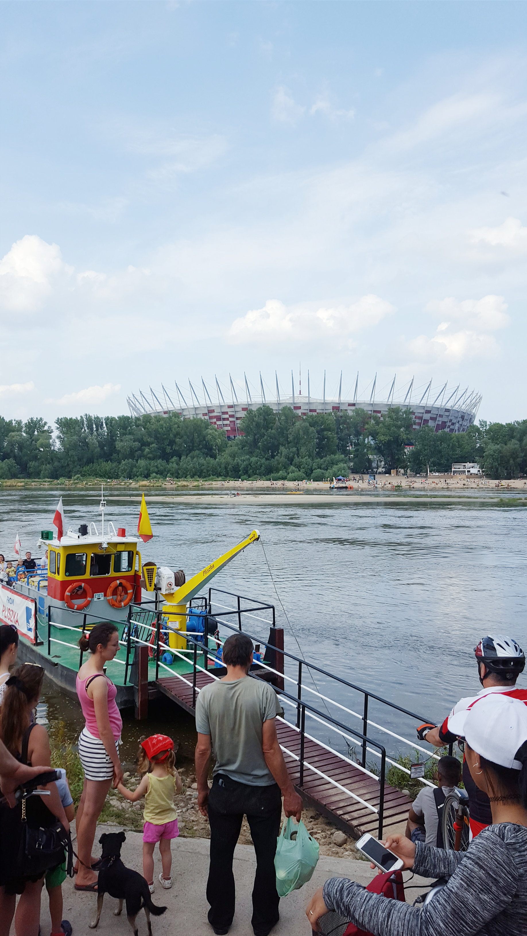 Overlooking the National Stadium across the Vistula River bank | Warsaw, Poland