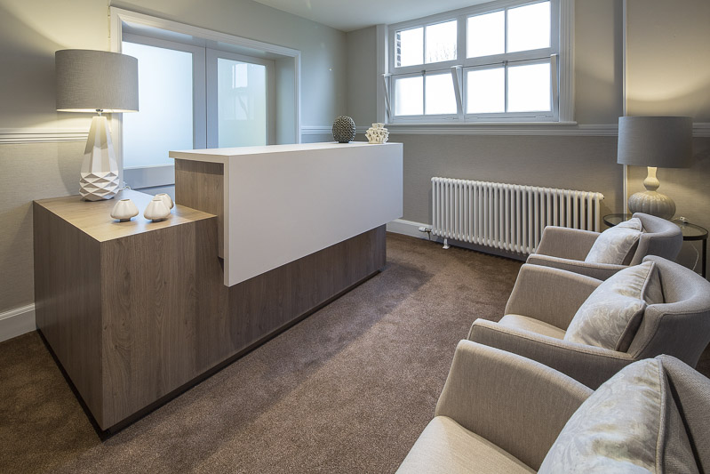 Little & Caine - Office Interior Design - Bespoke Reception Desk  - Dalton, Lake District, Cumbria