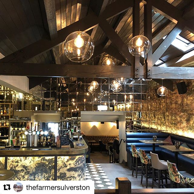 The amazing Cocktail Bar at @thefarmersulverston ... make sure you go take a peak and have a few cocktails 🍸 #projectcomplete #interiordesign #commercialinteriors #womeninbusiness #interiordesigner