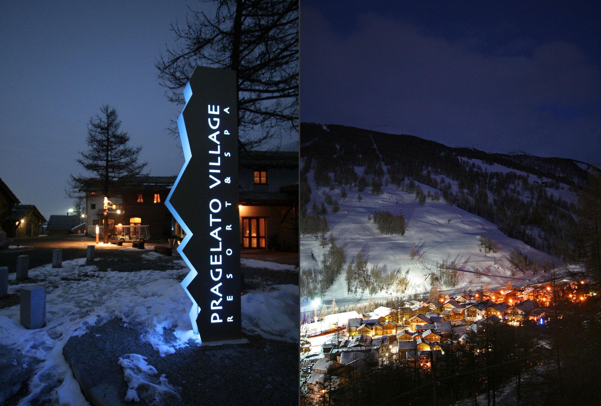 Main entrance to resort & Village nestled in the Val Troncea National Park