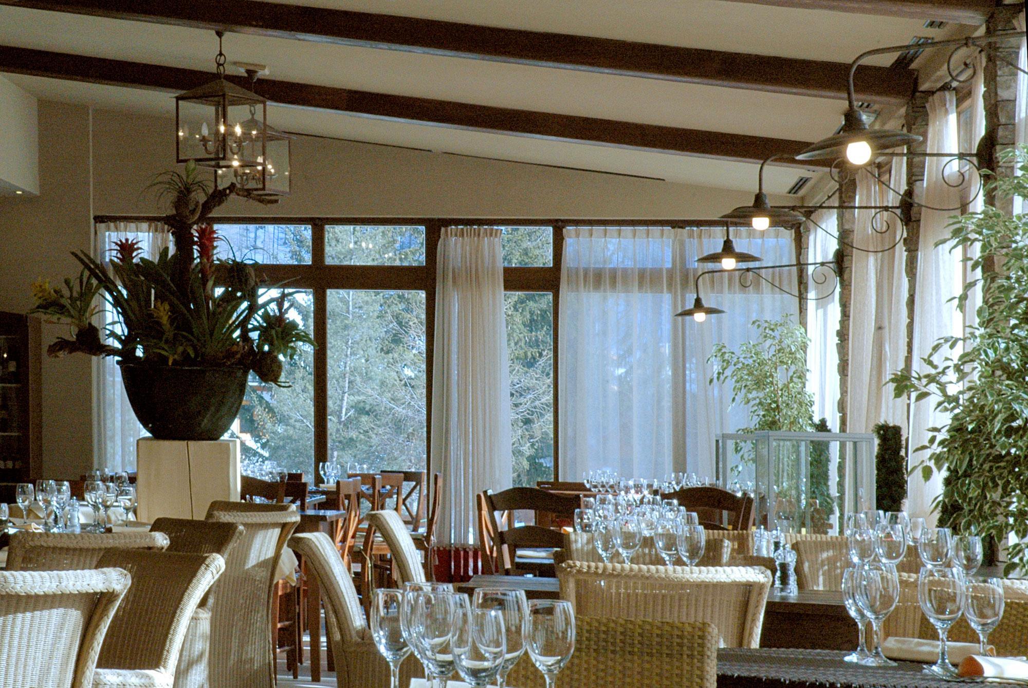 The Giardino D'Iverno Restaurant adjacent to the new ski lift