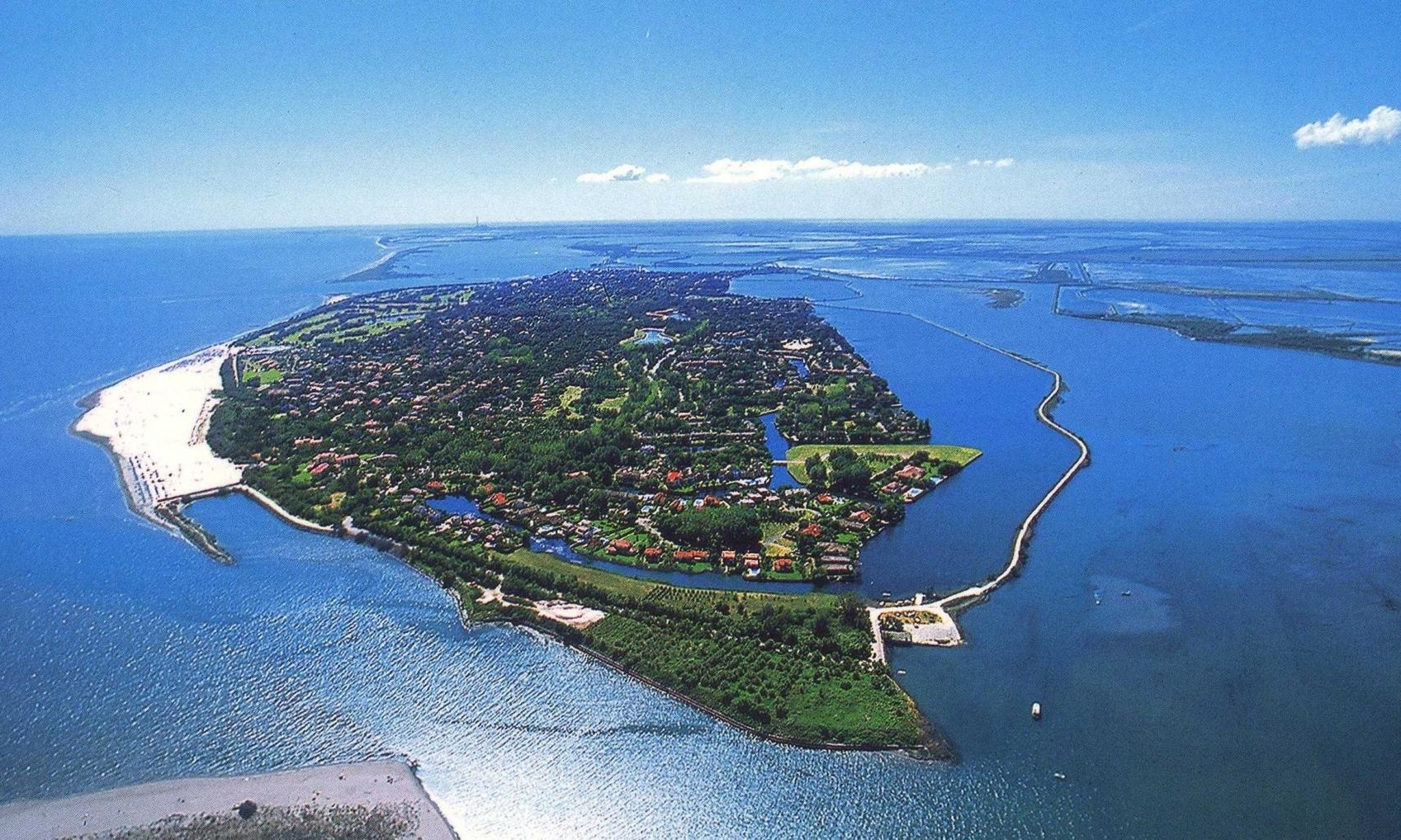 Albarella Island in a lagoon just south of Venice