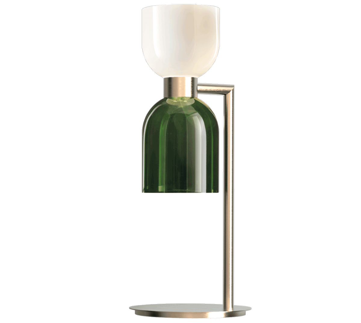 CATERINA DESK - Incanto Modern Collection 4026 / LGCaterina Desk in metal with brushed gold with opal white and green glass diffuserAvailable in different colours.Design THDP & Simone Bretti